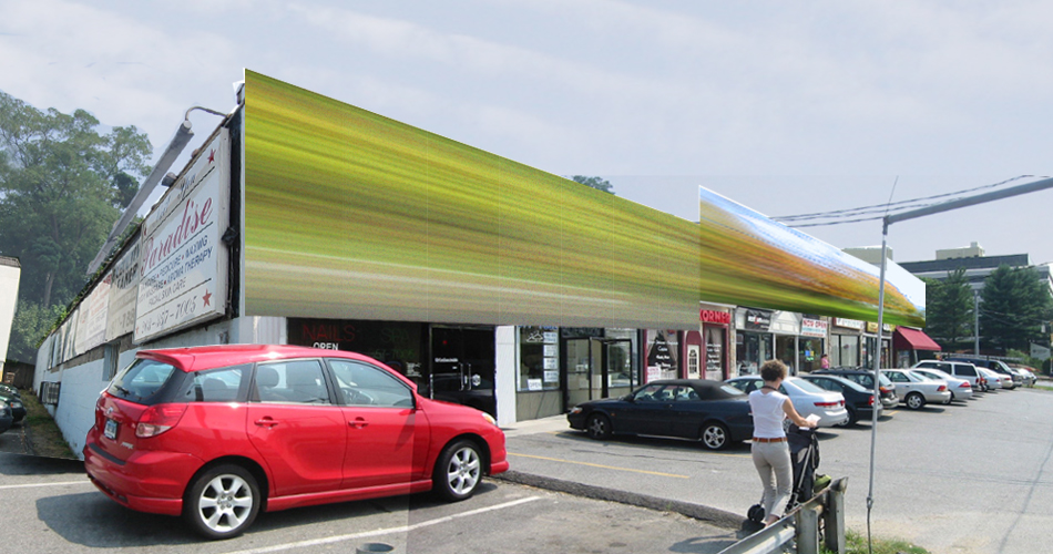 Strip Mall Exterior Rendering