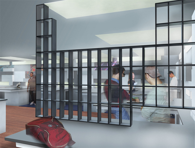 Modern Science Lab Rendering