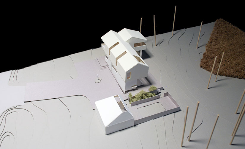 Modern House Chipboard Model